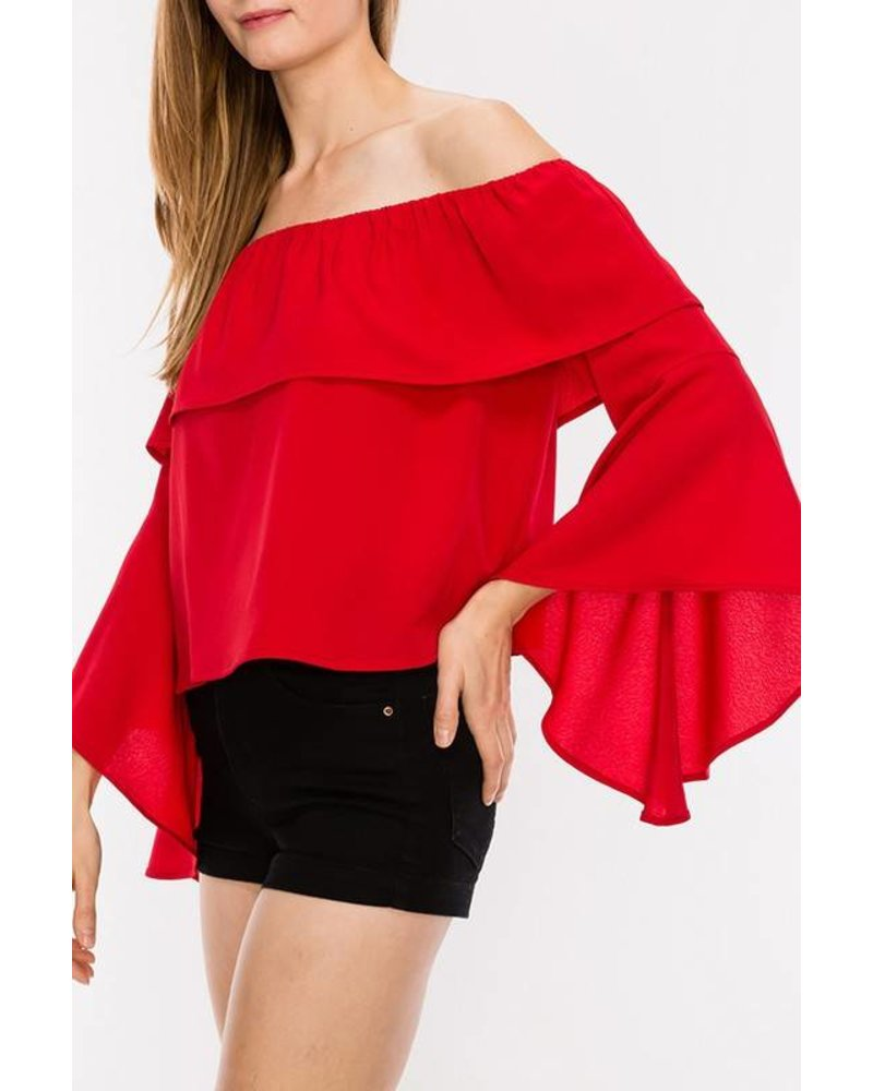 Ripley Red Blouse