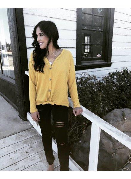 Williston Mustard Knit Top