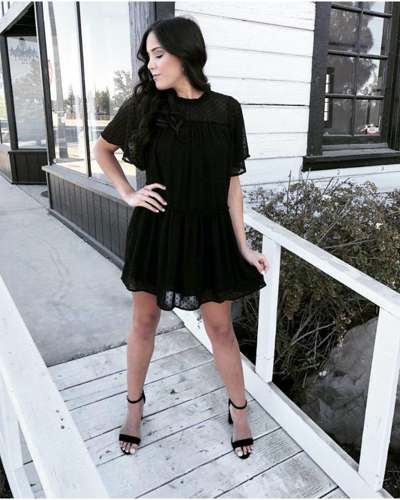 Ava Black Tunic Dress