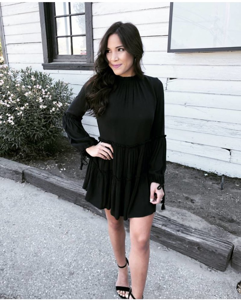 Aces Black Boho Dress