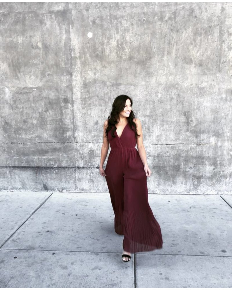 Matrix Wine Jumpsuit