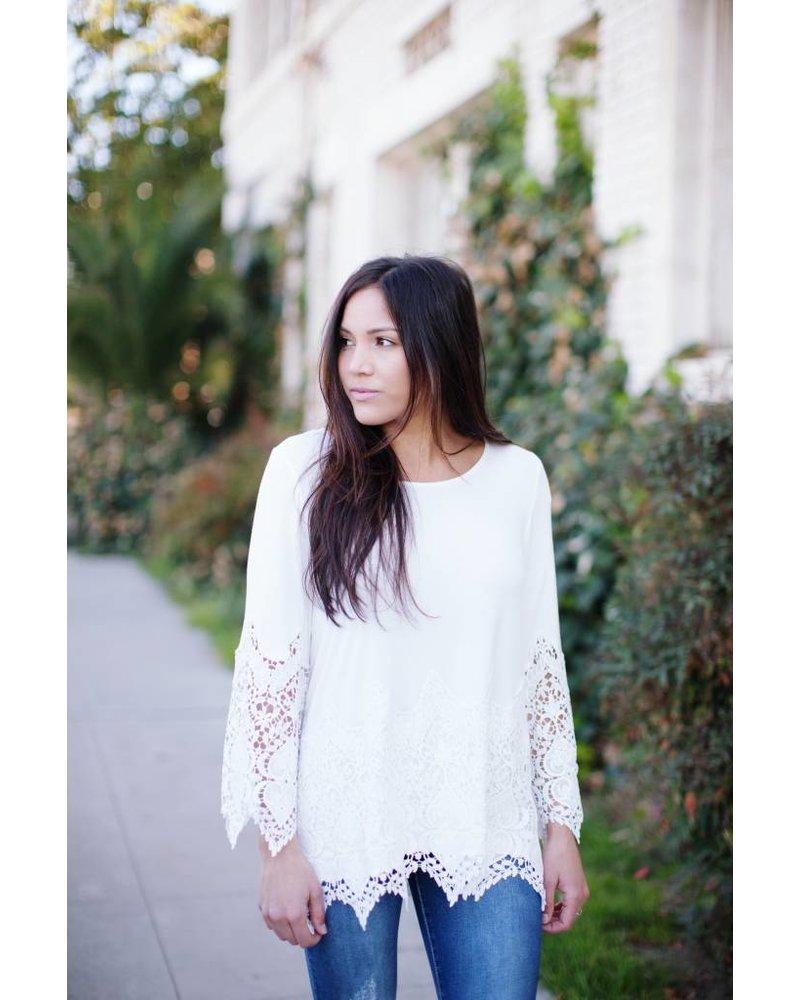 Summer White Blouse