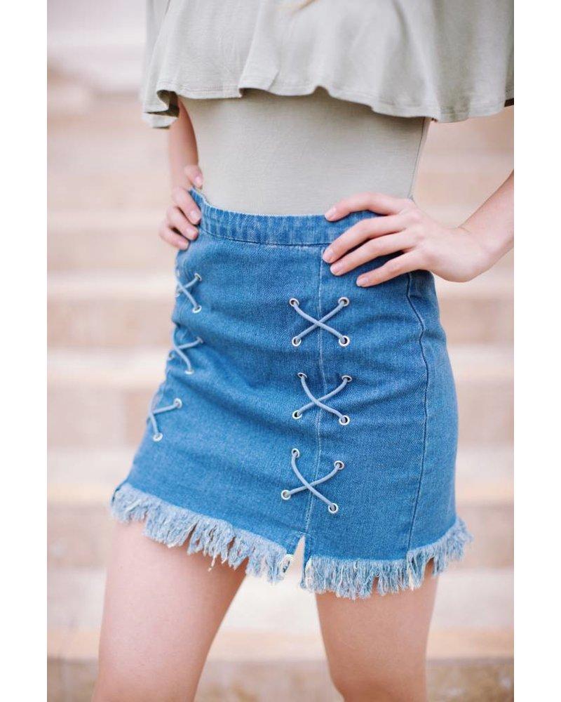 Decadent Denim Skirt