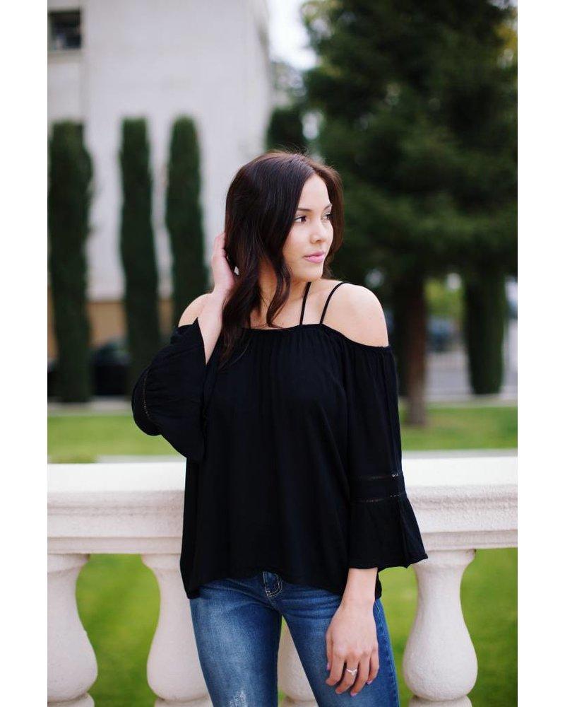 Marigold Black Blouse