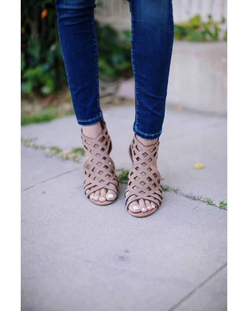 June Taupe Heel