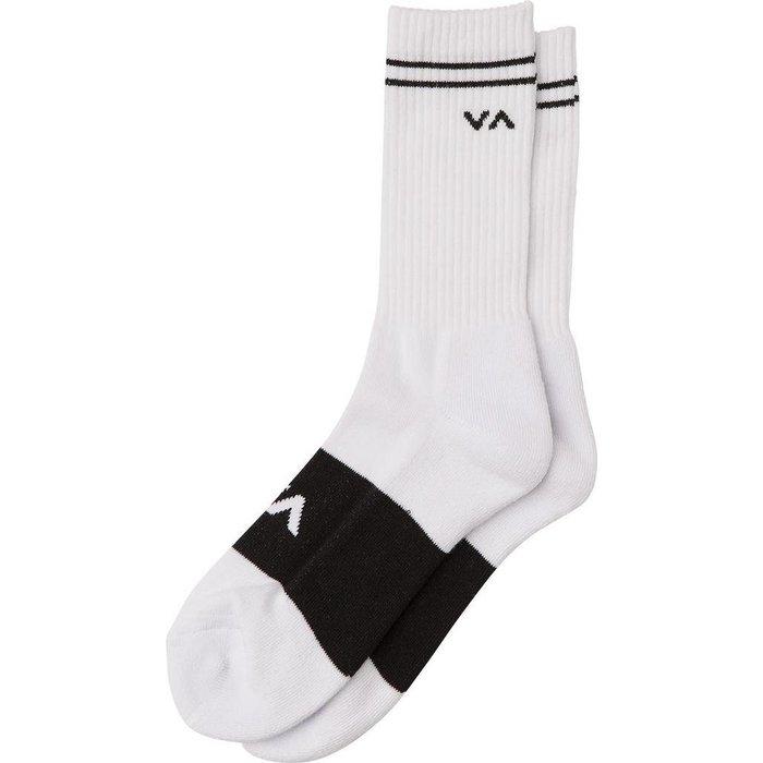 RVCA Basic Block Sock , White, O/S