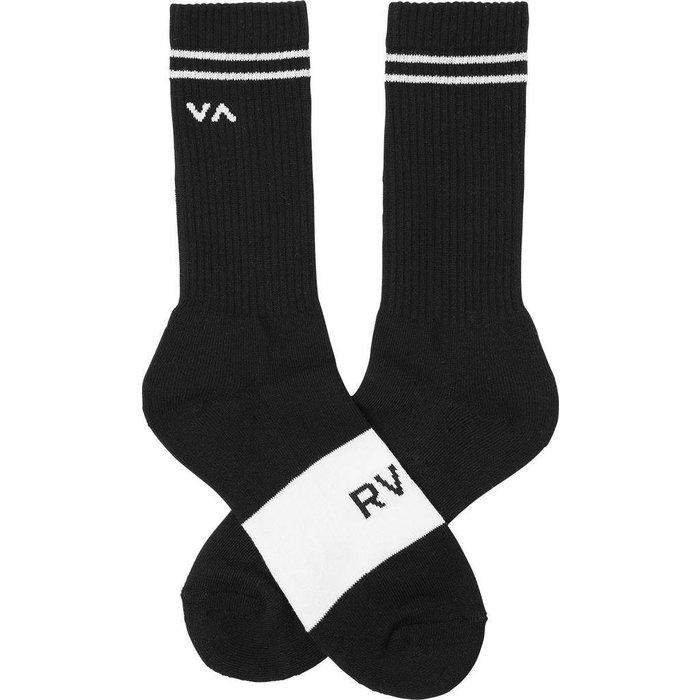 RVCA Basic Block Sock , Black, O/S
