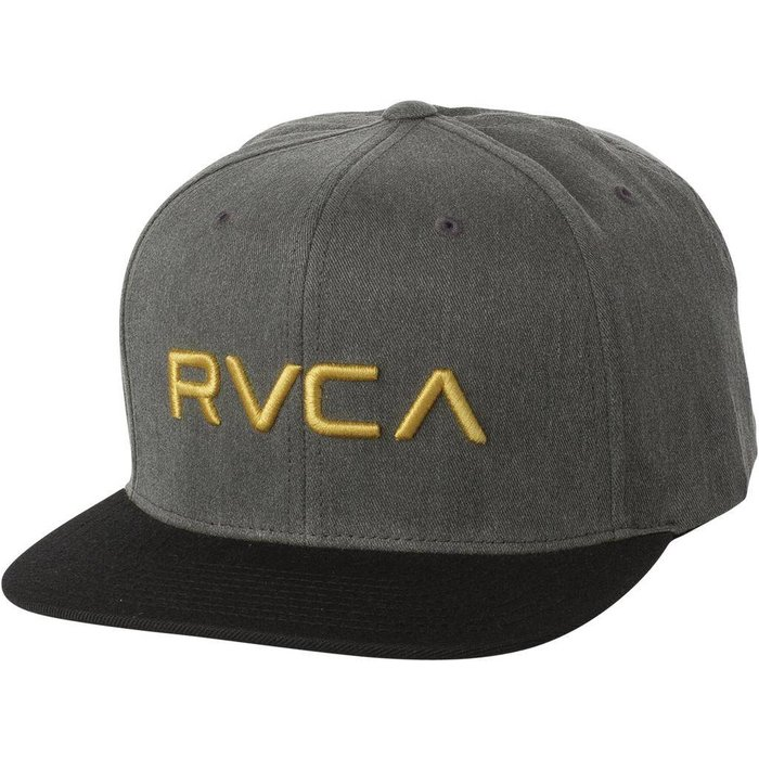 RVCA TWILL SNAPBACK , WASHED BLACK , O/S