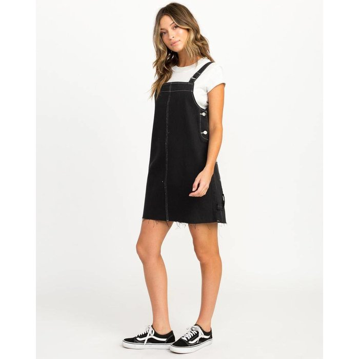 RVCA NEO PINNY DENIM OVERALL DRESS