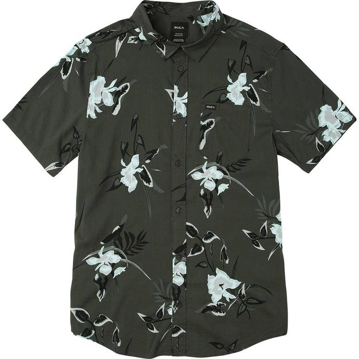 RVCA BOY'S MOONFLOWER PRINTED SHIRT