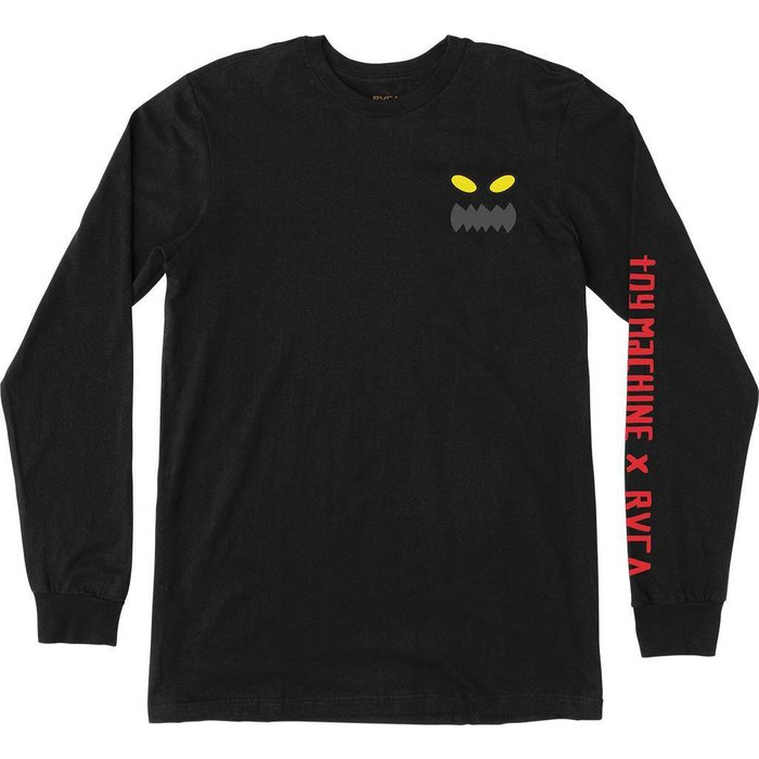 RVCA TOY MACHINE LONG SLEEVE T-SHIRT