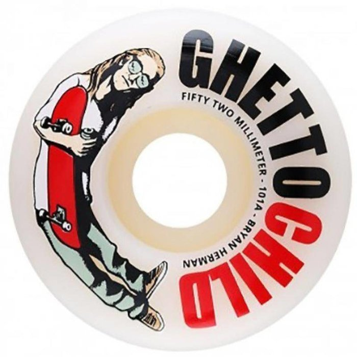GHETTO CHILD HERMAN OG<br /> LOGO 52MM 101A (Set of 4)