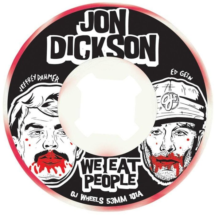 OJ Dickson We Eat People Original white red swirl EZ EDGE 53mm