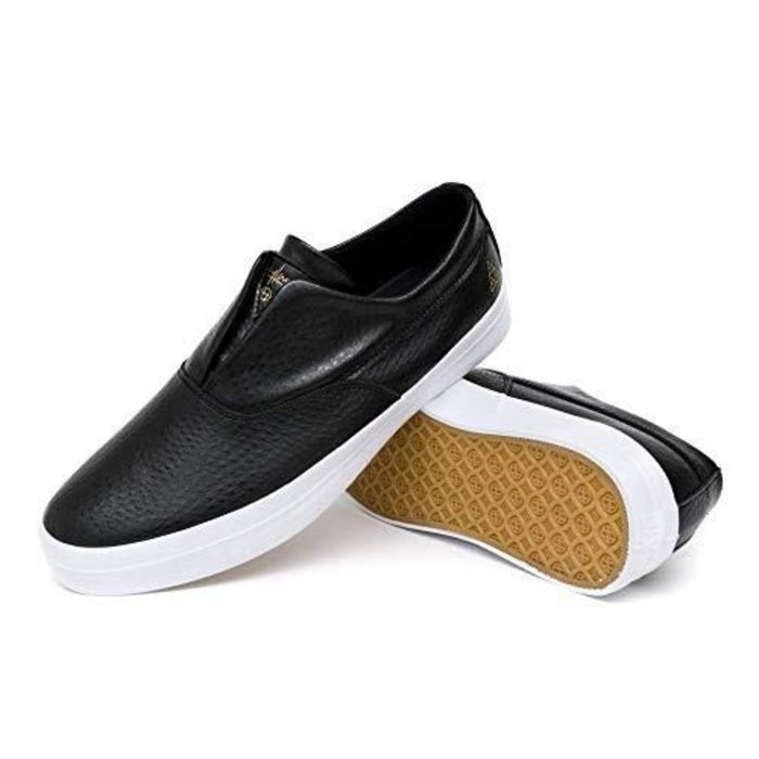 HUF - Dylan Slip on Black 100% Leather