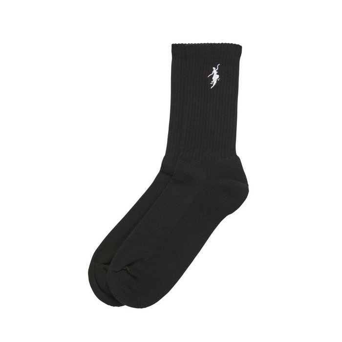 POLAR NO COMPLY SOCKS , BLACK/WHITE, O/S