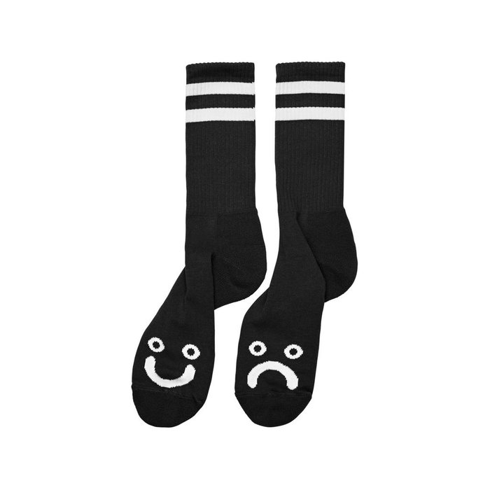 POLAR HAPPY SAD SOCKS , BLACK, O/S