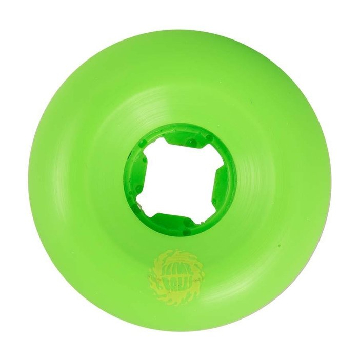 Santa Cruz Slime Balls Vomit wheels , MINI GREEN GLOW, 58
