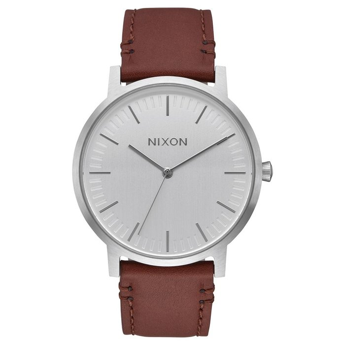 Nixon Porter leather silver/brown