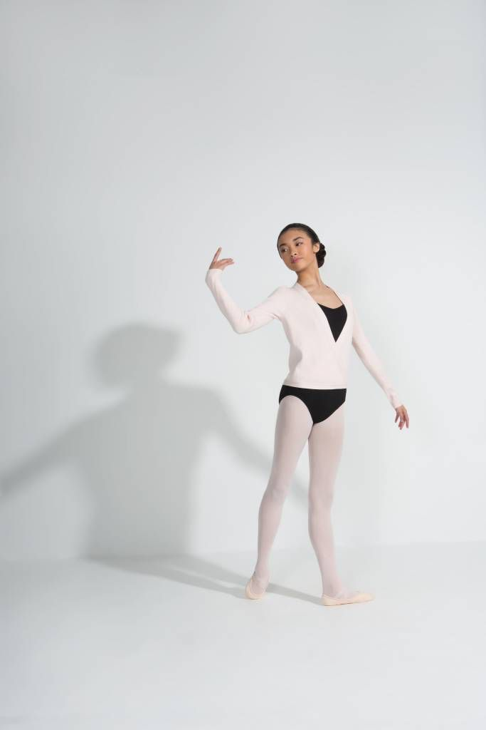 Capezio Capezio ribbed sweater is perfect for keeping warm during warm up and rehearsals or between classes. this sweater is super soft and has a traditional tie wrap around waist <br /> available in black and pink