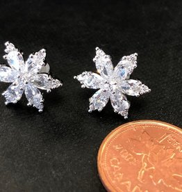 CA Sparkle Snowflake Earrings