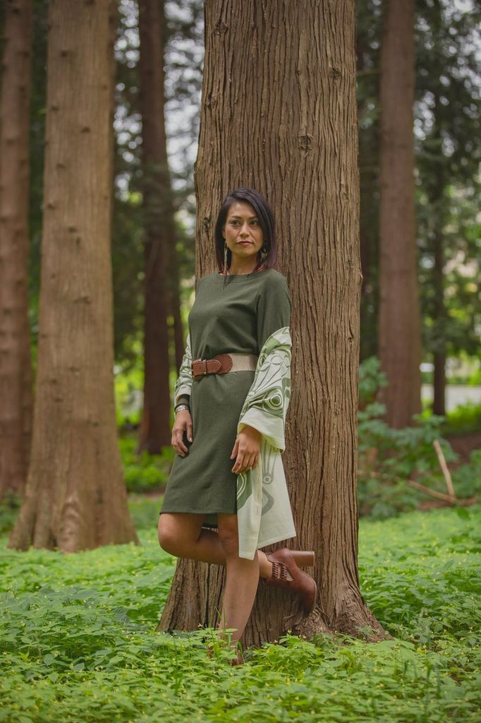 Chloe Angus Designs Chloe Angus Fleece Boatneck Dress