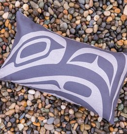 Chloe Angus Designs Chloe Angus Designs Pillow Cover DYNAMIC RAVEN, GREY 12 x 20