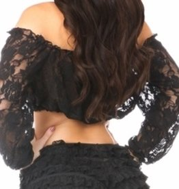Daisy Corsets Daisy Corsets Lace Long Sleeve Peasant Top