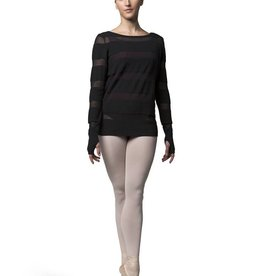 Bloch Bloch Z7219 Sheer Stripe Knit Sweater