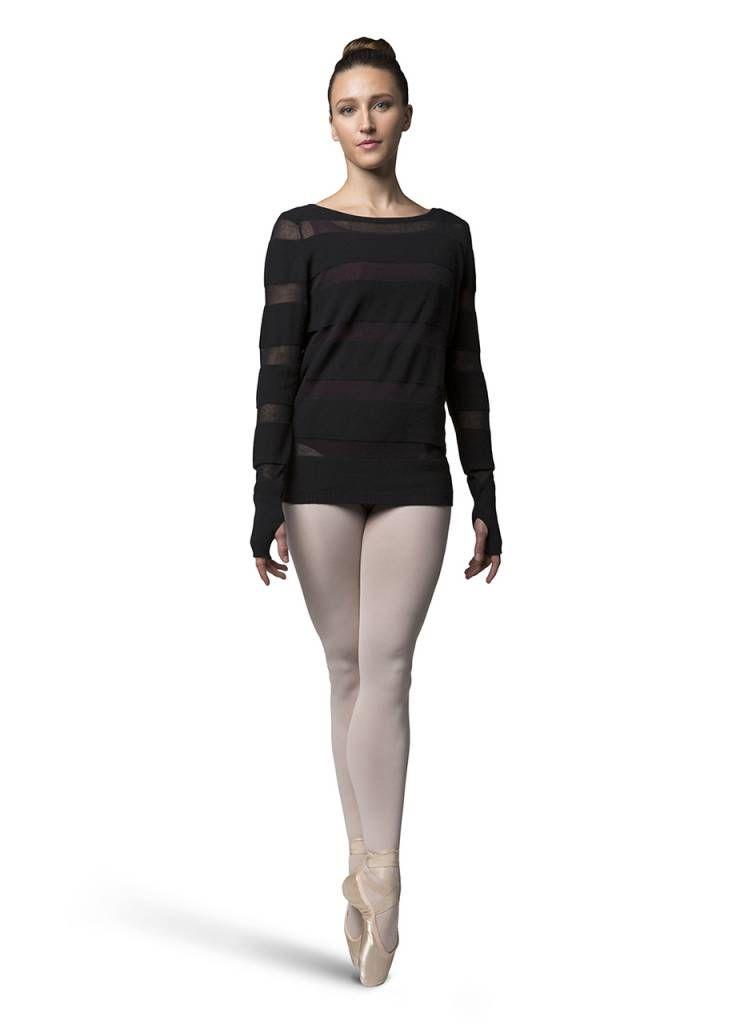 Bloch Bloch Z7219 Sheer Stripe Knit Sweater