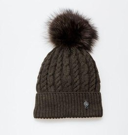 Canadian Hat Company Ltd. Harricana HRTQ4700 Torsade Beanie - Recycled Fur Pom Pom