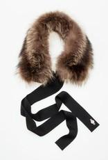 Canadian Hat Company Ltd. Harricana Recycled Fur Headband with Wool Backing and Ties