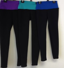 Sportees Yoga-Tights/Leggings-FLEECE Made from Polartec Powerstretch with Wide Yoga Waistband