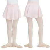 Capezio DOUBLE LAYER SKIRT	Body 90% Nylon 10% Spandex Skirt: 70% Polyester 30% Nylon