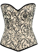 Daisy Corsets Top Drawer Embroided Steel Boned Corset