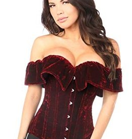 Daisy Corsets Top Drawer Off the Shoulder Velvet Corset
