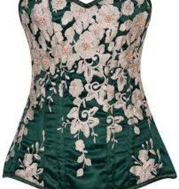 Sportees Top Drawer Elegant Floral Embroidered Corset