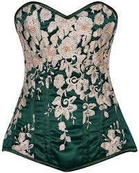 Sportees Top Drawer Elegant Floral Embroidered Corset