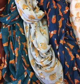 KK 24477 Small Fox Scarf LT GREEN