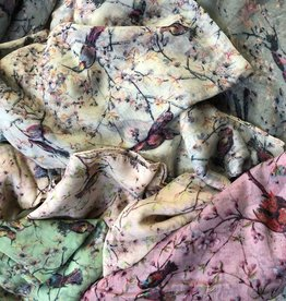 CA Infinity Scarves Printed Birds and Blossoms
