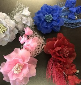 CA  Hair Flower with Tulle and Jewels