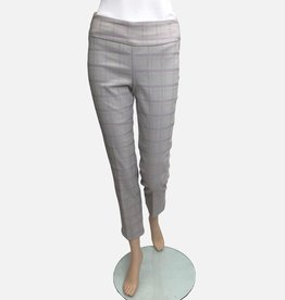 Up Pants Up Pants Ecru Square Jaquard Ankle