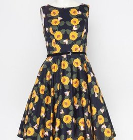 Miss Lulo Miss Lulo Sunflower Dress with Belt