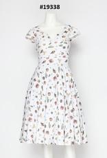 Miss Lulo Miss Lulo Cotton Print Dress - Sea Themed