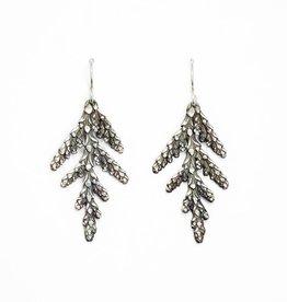 LoveMorningMoon Love Morning Moon Sterling Silver Oxidized Cedar Earrings