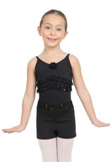 Capezio Glitter Rose Ruffled Camisole Leotard - Girls<br /> <br /> Sweet like a rose, this camisole leotard is an essential for every rising dancer. Features ruffled trim, a scoop back and a Capezio standard ballet leg line. Pairs perfectly with the tiered tutu and pull on s