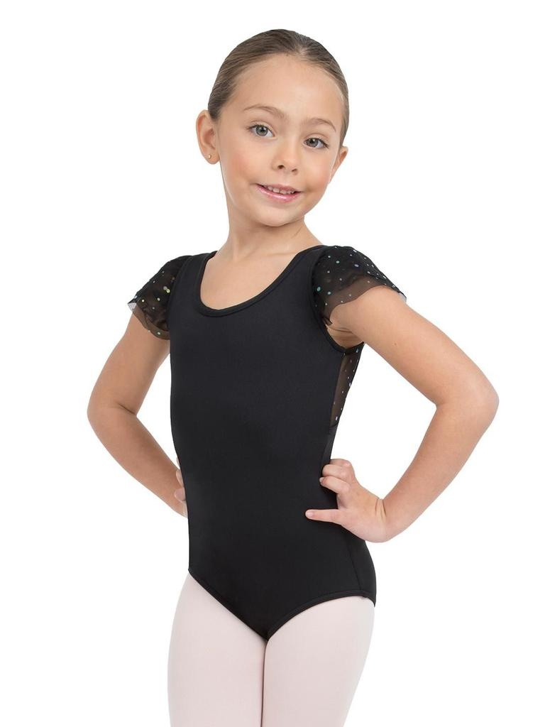 Capezio Glitter Rose Flutter Sleeve Leotard - Girls<br /> <br /> Timeless and elegant, this leotard is a staple for every dancer. Features mesh flutter sleeves, laced back details and a Capezio standard ballet leg line. Pairs effortlessly with the tiered tutu and pull on ski