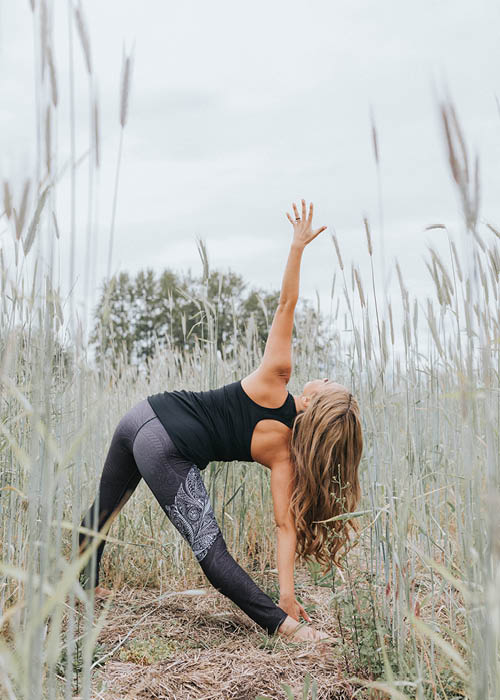 NoMiNoU NoMiNou Full Length Leggings for The Active Woman in All of Us High waistband for comfort and proper fit and reinforced stitching for durability. A ChitoSanté finish is applied for a natural wicking and anti-bacterial element and also to add a soft hand t