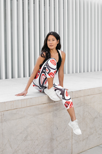 NoMiNoU NoMiNoU is a fresh and innovative activewear brand designed and manufactured in Vancouver, Canada. Our eco-friendly clothing line is known for its distinctive designs, which feature adaptations of original artwork created either by the late mother of our