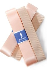 "Capezio Keep your shoes on pointe with Bunheads® Rehearsal Ribbon and Elastic. Pre-packaged, wide, single-faced satin ribbon and elastic that is cut to the length needed for a pair of pointe shoes. Each package contains 2 yards of 7/8"" rehearsal ribbon and 18"" of"