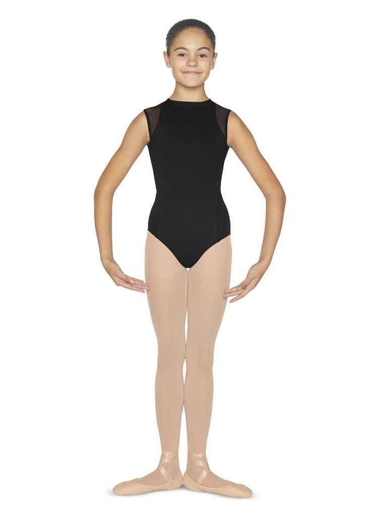 Bloch Fabric<br /> Main- 90% Nylon, 10% Spandex <br /> Contrast - 90% Nylon 10% Spandex mesh